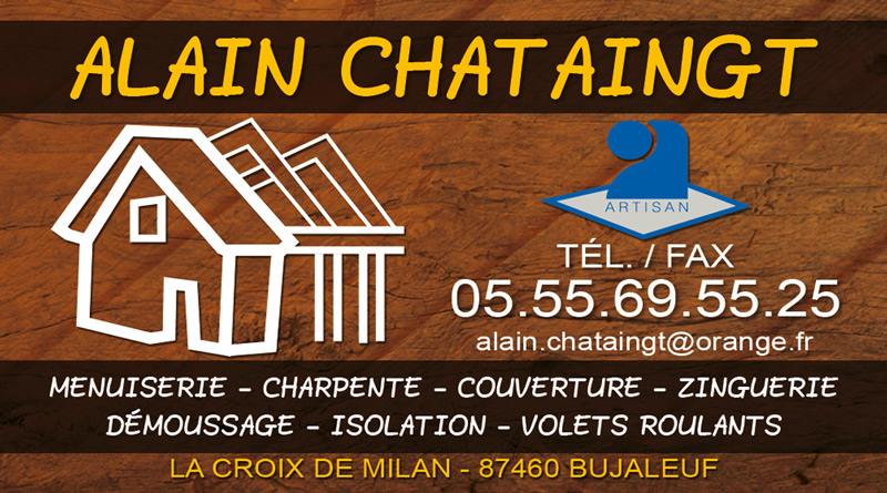 Carte De Visite Chataingt Alain Zoom