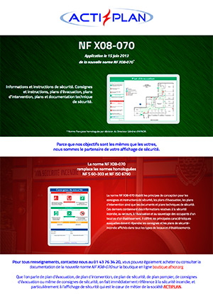 Landing page : Norme NF X08-070 Afnor