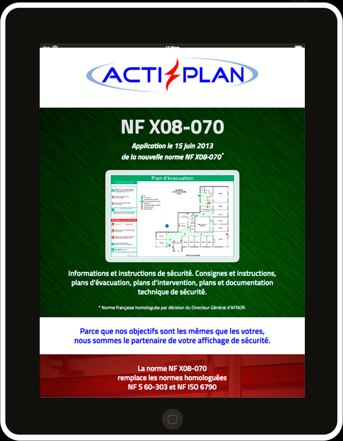 Nf X08 070 Norme Francaise Afnor Actiplan Tablette