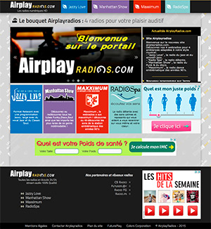 Site internet : Airplayradios