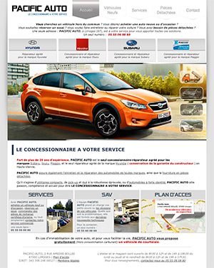 Site internet : Pacific Auto Limoges